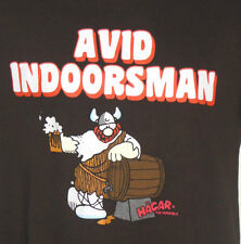 Haggar The Horrible Avid Indoorsman T-Shirt Size M Medium Viking Dik Browne