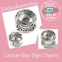 New Authentic Genuine PANDORA Silver Cancer Star Sign Charm - 791939 RETIRED
