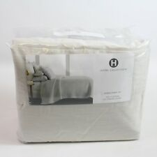 Hotel Collection 525 TC Cotton Yarn Dyed QUEEN Flat Sheet & Fitted Set ASH H4086