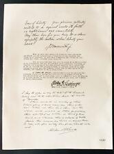 1926 - Lithographie citation James W. Wadsworth, Line-berger, Albert Gleaves.
