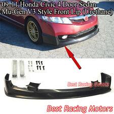 Mu-gen V3 Style Front Bumper Lip (Urethane) Fits 09-11 Civic 4dr