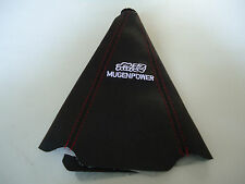 CAR MUGEN POWER BLACK SHIFT GEAR KNOB BOOT GLOVE COVER RED SUTURE