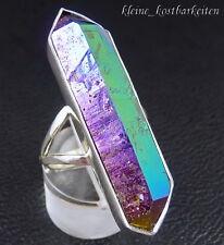 Ring * 925er Sterlingsilber * Titanium Aura Quarz * RG 60 * 10,6 g