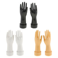 """Pair Female Mannequin Hand Jewelry Bracelet Ring Gloves Display Holder Stand 10"""""""