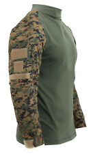 Tactical Airsoft Woodland Digital Camo Combat Shirt Rothco 45030