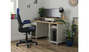 Home Modular 1 Drawer Gaming Desk - Oak Effect & Grey
