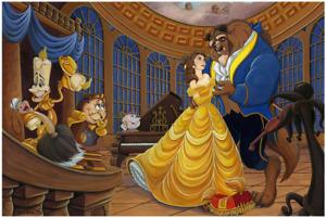 Disney Fine Art Limited Edition Canvas The Dance-Beauty+Beast- St. Laurent