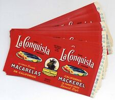 50 LA CONQUISTA Brand, Vintage Seafood, ***ORIGINAL CAN LABELS*** Wholesale