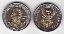 SOUTH AFRICA – RARE BIMETAL 5 RAND UNC COIN 2008 YEAR 90th ANNI NELSON MANDELA