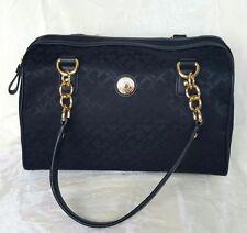 TOMMY HILFIGER Women's Black Satchel Handbag Retails $79