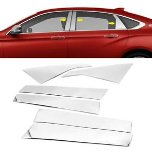 For 2014-2020 Chevy Impala Stainless Steel Chrome Pillar Post Trims