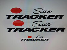 Sun tracker Pontoon Marine Vinyl  Suntracker 2 sides and 1 back decal set