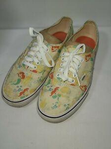 VANS Disney Mens 8 Womens 9.5 Little Mermaid Ariel Sneakers Shoes Lace Up Vans