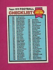 1979 TOPPS # 368 UNMARKED NRMT CHECKLIST CARD (INV# A5158)
