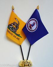 Gadsden & Virginia Double Friendship Table Flag Set