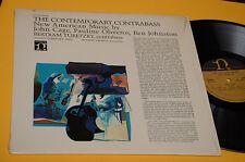 JOHN CAGE LP THE CONTEMPORARY CONTRABASS ORIG USA '70 SPERIMENTAL MUSIC NM !