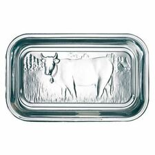 Luminarc Cow Butter Dish Lid Embossed Clear Thick Glass Dairy Kitchen Fridge
