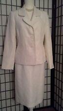 Le Suit Essential Womans Suit, Off White, Sz 8