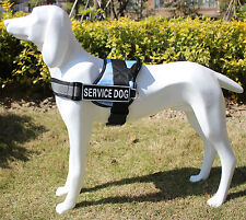 Reflective Dog Harness Medium Large Dogs Service Vest with Patches for Pitbull
