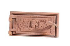 schöne alte Ofenklappe Ofentür mit Rahmen Ofen Ascheklappe