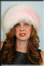 New Baby Pink Fox Fur Headband 26 Inches Long and 5 Inches Wide