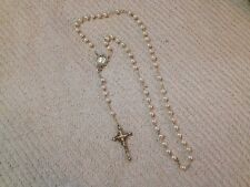 Beautiful Vintage White/Pearl Rosary