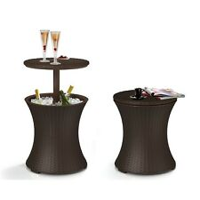 New listing Cool Bar Rattan Style 7.5-Gal Outdoor Patio Pool Ice Cooler Table Drink Beverage