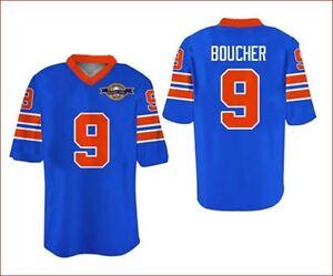 Bobby Boucher #9 Movie Football Jersey Stitch Sewn All Size Free Shipping blue