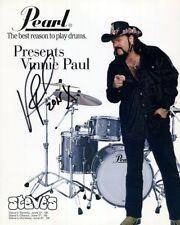 VINNIE PAUL SIGNED 8x10 AUTOGRAPHED PHOTO PANTERA HELLYEAH DRUMMER REPRINT