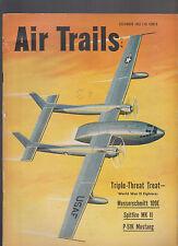 Air Trails Magazine December 1952 Messerschmitt Spitfire Mustang