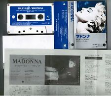 MADONNA True Blue JAPAN CASSETTE TAPE PKG-3175 w/PS(flap torn)+Insert FREE S&H