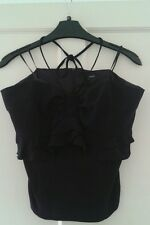 Ladies BNWT Next Black Very Trendy Halterneck Top Size 14
