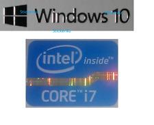 Desktop Intel Inside Core i7 Libre Etiqueta Engomada de la computadora Windows PC 10 Genuino 7 unidad 8