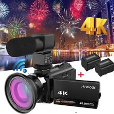 "Andoer 4k WiFi HD 1080p 48mp 16x Zoom 3"" LCD Digital Video Camera Camcorder DVR"