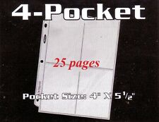 25  BCW 4  POCKET PAGE POSTCARDS  PHOTOS POST CARDS NEW