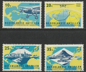 Netherlands Antilles: 1959. SG413/6, 10c to 35c 25th Anniv of KLM Air Service.