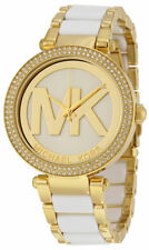 MICHAEL KORS MK6313 Parker Gold Tone and White Acetate Ladies Wrist Watch