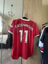 More details for mason greenwood signed 21/22 manchester united home shirt