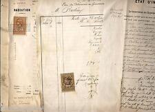 5 actes relatifs avec l'étude du notaire Thomas à Montrouge Burlier (1881-1897)