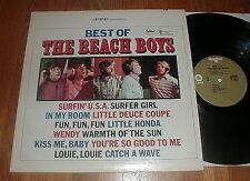 "BEACH BOYS ""Best Of The Beach Boys"" LP w Surfin' USA Columbia Record Club VG++"