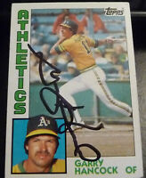 Garry Hancock SIGNED 1984 Topps #197 Oakland Athletics A's Red Sox AUTOGRAPH d15