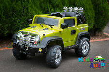 Kids 12volt Electric Ride-On Green Jeep - BRAND NEW with Remote Control