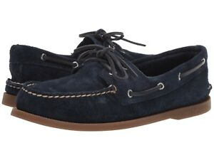 Men's Sperry Top-Sider A/O Two-Eye Suede Boat Shoe, STS19434 Multiple Sizes Navy