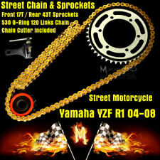 Gold Motorcycle Chains&Sprocket Sets