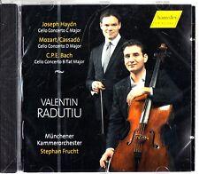 CELLO CONCERTOS -Haydn/Mozart/C.P.E Bach CD (NEW) Valentin Radutiu (Frucht)