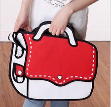 Messenger Bag Women 2D Cartoon Canvas Bag Comic Lady Handbags Shoulder Bag