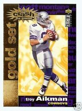 """95 COLLECTORS CHOICE """"CRASH THE GAME GOLD"""" TROY AIKMAN"""
