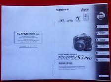 Libretto Manuale di Istruzioni Fuji Fujifilm S3 Finepix in Italiano (foto_copie