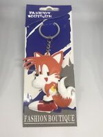 Tails ( Sonic The Hedgehog ) 2 Sided Rubber Keychain, New In The Package 🔥