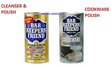 BAR KEEPERS FRIEND CLEANSER & POLISH 340g AND COOKWARE CLEANSER 369g TWO PACK